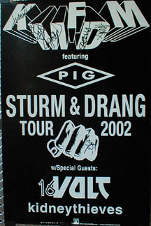 Kmfdm Sturm And Drang 2002 Tour Poster - Autographed PO