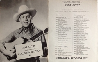 Autry,Gene - Columbia Records 1950s two-sided poster