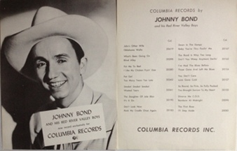 Bond,Johnny - Columbia Records 1950s two-sided poster