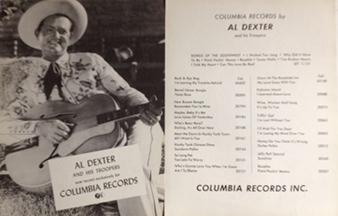 Dexter,Al - Columbia Records 1950s two-sided poster