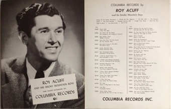 Acuff,Roy - Columbia Records 1950s two-sided poster