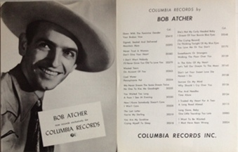 Atcher,Bob - Columbia Records 1950s two-sided poster