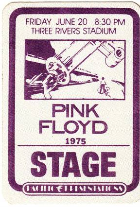 1975 Wish You Were Here Tour Stage Pass